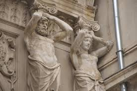 ornamental statues of passage macca villacrosse bucharest stock