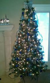 Blue White And Silver Christmas Tree - blue and silver themed christmas tree christmas ideas