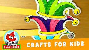 jester paper hat craft for kids maple leaf learning playhouse