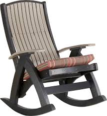 Rocking Chair With Cushions Luxcraft Rocker Seat Cushion Swingsets Luxcraft Poly Furniture