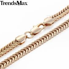 gold filled necklace images Trendsmax 3 4 6mm yellow gold filled necklace chain franco flat jpg