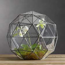 large polygonal glass flower geometric glass conservatory garden