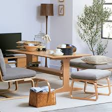 oak wood dining table oak wood living dining furniture muji