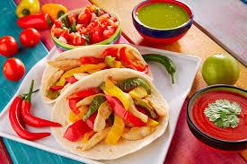 cuisine mexicaine fajitas piment mexicain de guacamole de nourriture de tacos de fajitas de