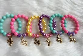 party favor bracelets unicorn party favor bracelet unicorn charm bracelet