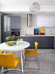 kitchen dining room airy contemporary apartment with scandinavian and pop art accents