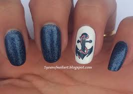 Hand Painted Love Anchors The - 365 days of nail art challenge nail arts