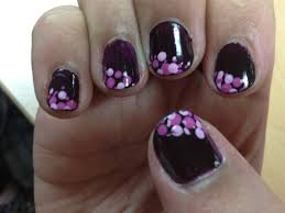 african plum with dots nail art gallery