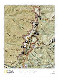 North Carolina State Parks Map by Mount Mitchell State Park