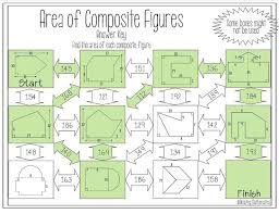area of composite figures maze mental maths maze and geometry