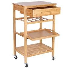 bamboo kitchen island rolling bamboo kitchen island storage cart with wine rack drawer