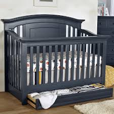 White Convertible Crib With Drawer by Baby Cache Harbor 4 In 1 Convertible Crib With Storage Drawer