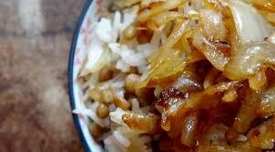 cuisiner des oignons riz et lentilles aux oignons haniyeh qatar la tendresse en cuisine