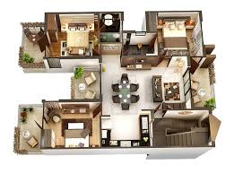 Apartment Designs And Floor Plans 50 Three U201c3 U201d Bedroom Apartment House Plans Bedroom Floor Plans