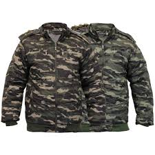 boys camouflage jacket kids coat military padded hooded sherpa