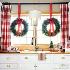 Santa Curtains Santa Hat Window Valance Christmas Decoration Christmas Tree Shop