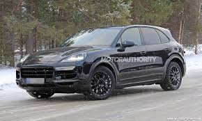 porsche cayenne spy shots and video autozaurus