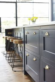 navy blue kitchen cabinets with brass hardware vintage navy kitchen design with brass hardware digsdigs