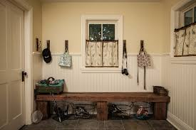 Rustic Outdoor Bench Plans Built In Mudroom Bench Plans Entry Farmhouse With Wall Hooks