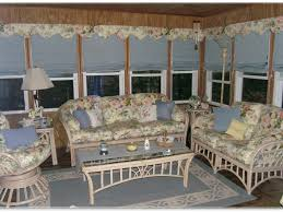 curtains in sunroom