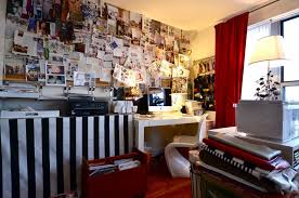 collage design inspiration home office industrial with wall