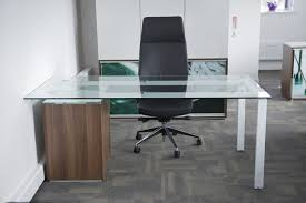 Modern Glass Office Desks Modern Glass Office Desk And Clear Chair Greenville Home Trend