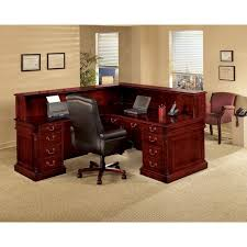 Reception Station Desk Keswick Cherry Right Reception Station Desk
