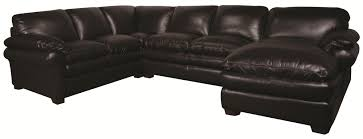 Leather And Microfiber Sectional Edison 3 Piece 100 Leather Sectional Morris Home Sofa Sectional