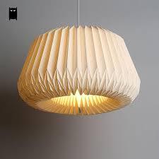 Shade Pendant Light Handmade White Paper Origami Lantern Shade Pendant Light Cord