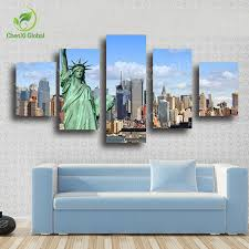 Canvas Without Frame 2015 S Without Frame 5 Panels Picture New York City Hd Canvas