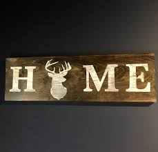 deer home decor hunting home decor antler art rustic home decor deer wood sign man