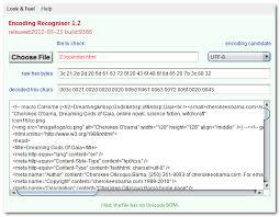 encoding java glossary