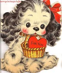 vintage valentines merry vintage syle vintage valentines puppies