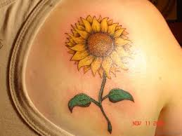 sunflower tattoo on shoulder tattoo collections
