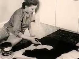 vintage 1950 s easy clean kentile vinyl asbestos floor tile