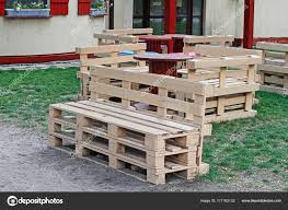 bench made out of pallets wooden bench made of pallets for sitting with tables made from