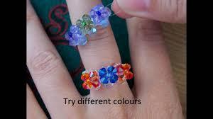 beaded ring bracelet images Beaded ring step by step tutorial jpg