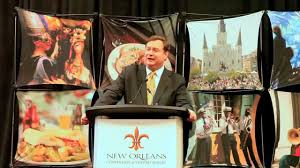 orleans convention visitors bureau ipw press conference stephen perry president ceo orleans