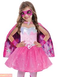 girls barbie princess costume pink superhero spy halloween fancy