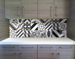 patchwork cement tile installation available in stock at clé