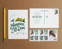 save the date postcards best design wedding save the date postcards rustic evergreen