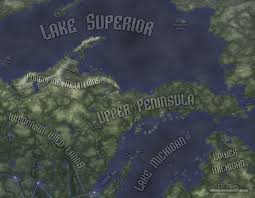 Map Upper Peninsula Michigan by Physical Geography Upper Peninsula Rifts Rpg By Ferocefv On
