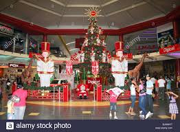 christmas decorations inside the huge albrook shopping centre