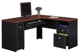 Office Desk Black Fantastic Design Ideas Using L Shaped Black Wooden Desks Include