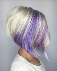 shag haircut brown hair with lavender grey streaks image result for stacked bobs hair do s pinterest bobs