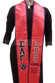 customized graduation stoles custom satin graduation stole embroidered with lifetime guarantee