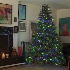slim christmas tree with led colored lights pleasurable prelit led christmas tree trees best 7 5 foot artificial