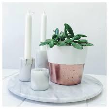medium concrete copper dipped planter for succulents cactus or