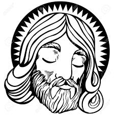 imagenes de jesucristo animado rostro de jesús con halo en un estilo de dibujos animados aislado en