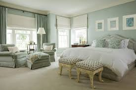 best colour combination for ur bedroom bed paintings light blue wall curtains windows table lamps of